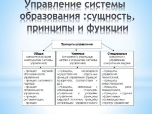 Управление системой образования